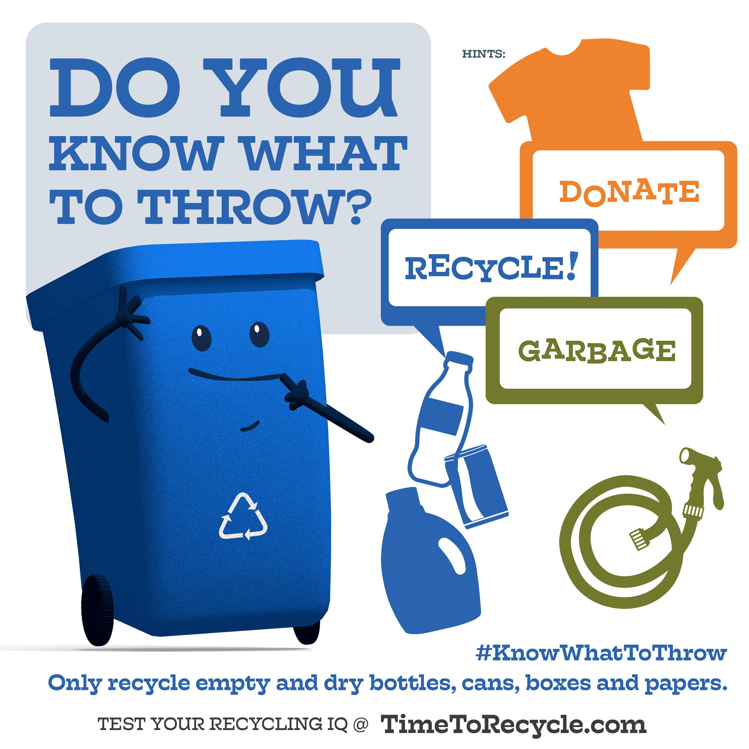 Do you know what to throw? Some items should be donated, while others are garbage and do not belong