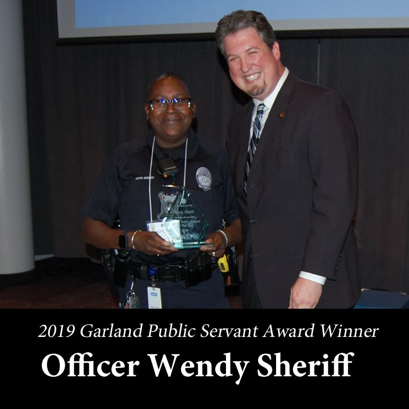 2019 Garland Public Servant Award Winner Officer Wendy Sheriff