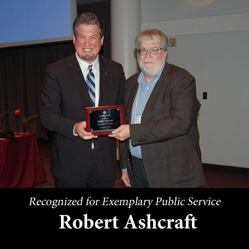 robert ashcraft for Exemplary Public Service